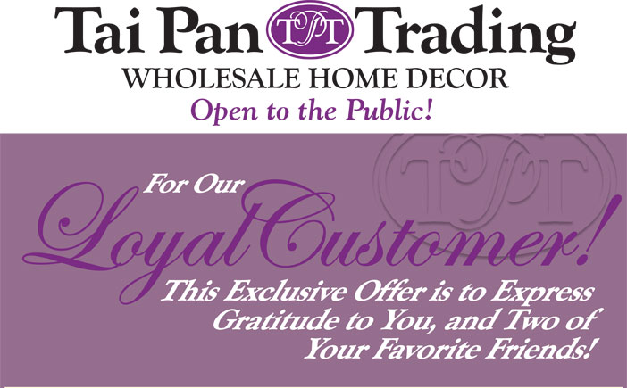 Tai Pan 25 Off Your Entire Purchase